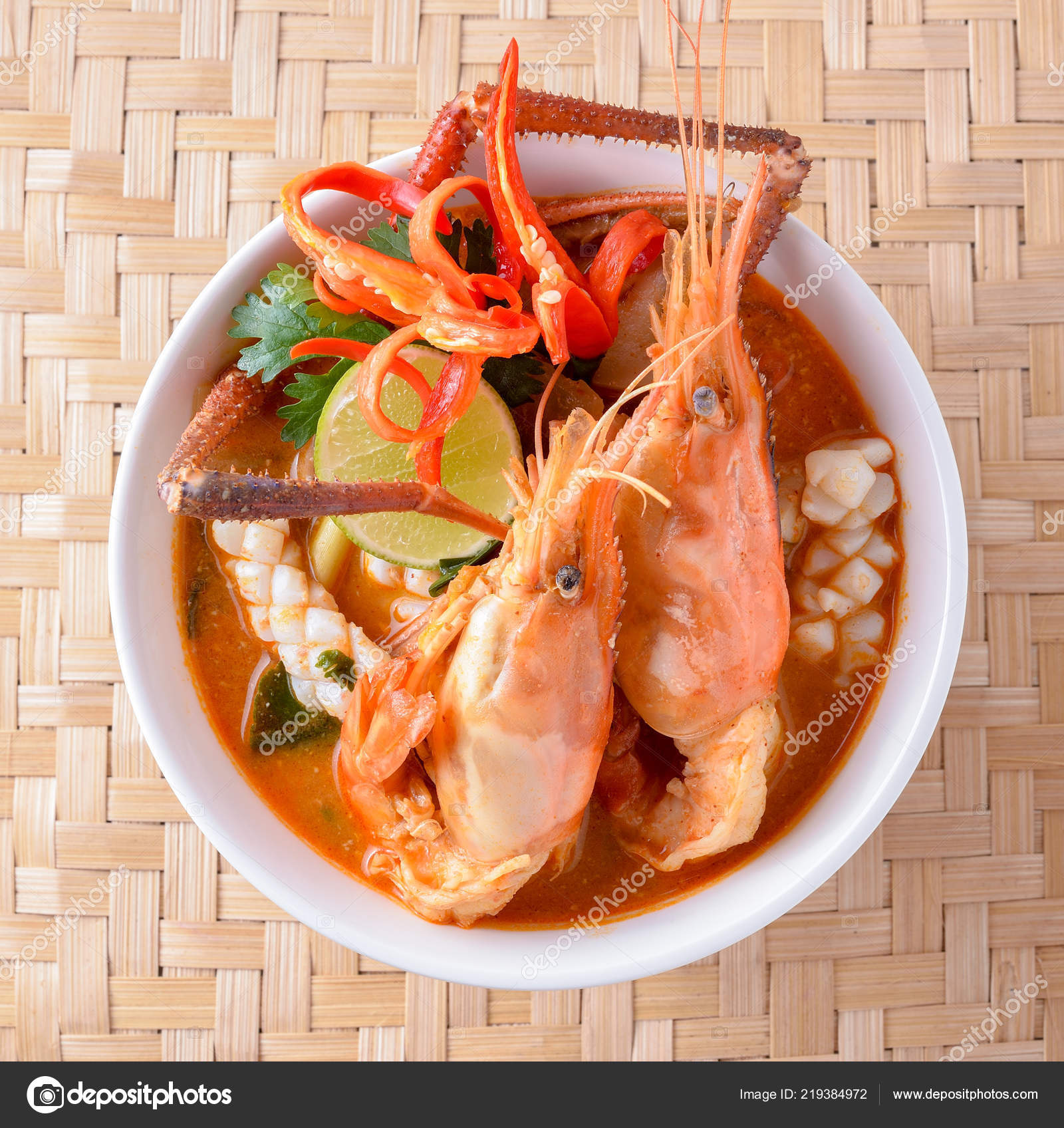 Cuisine Yam Tom Yam Kung Thai Cuisine Stock Photo Soloist Nan Hotmail