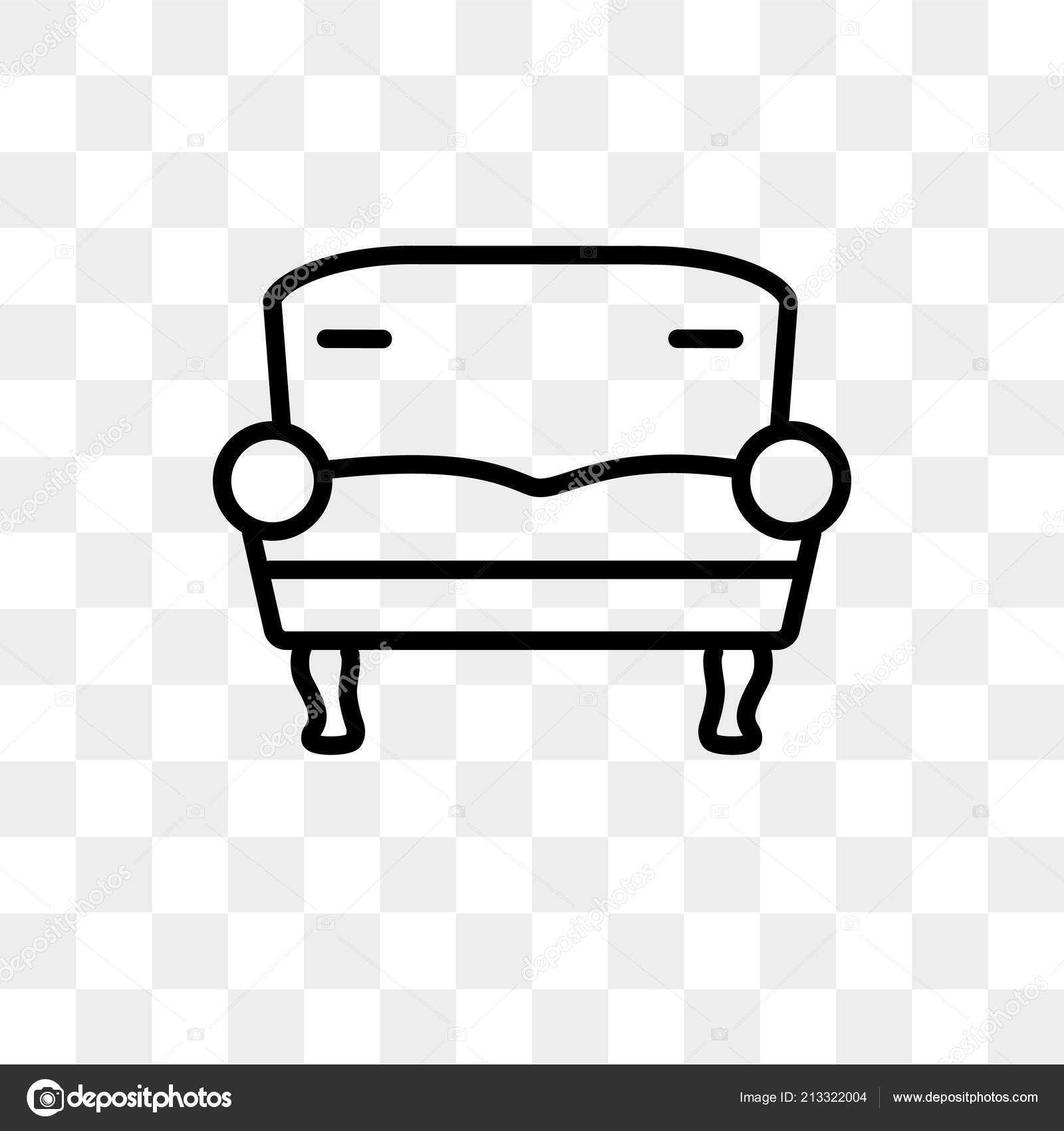 Sofa Set Vector Png Two Seat Sofa Vector Icon Isolated On Transparent Background Two