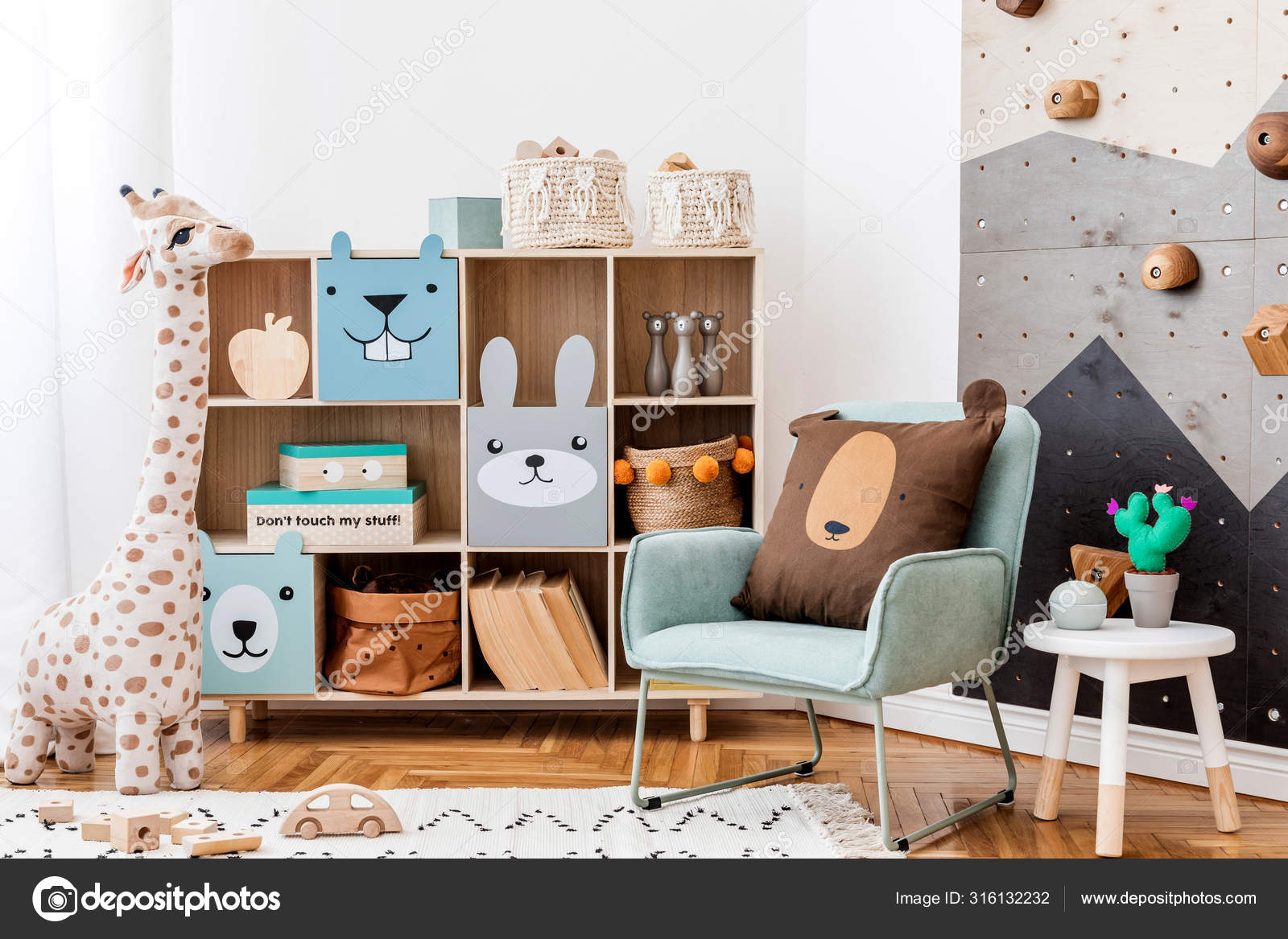 Scandinavian Interior Design Playroom Modern Climbing Wall Kids Design Furnitures Stock Photo Image By Followtheflow 316132232
