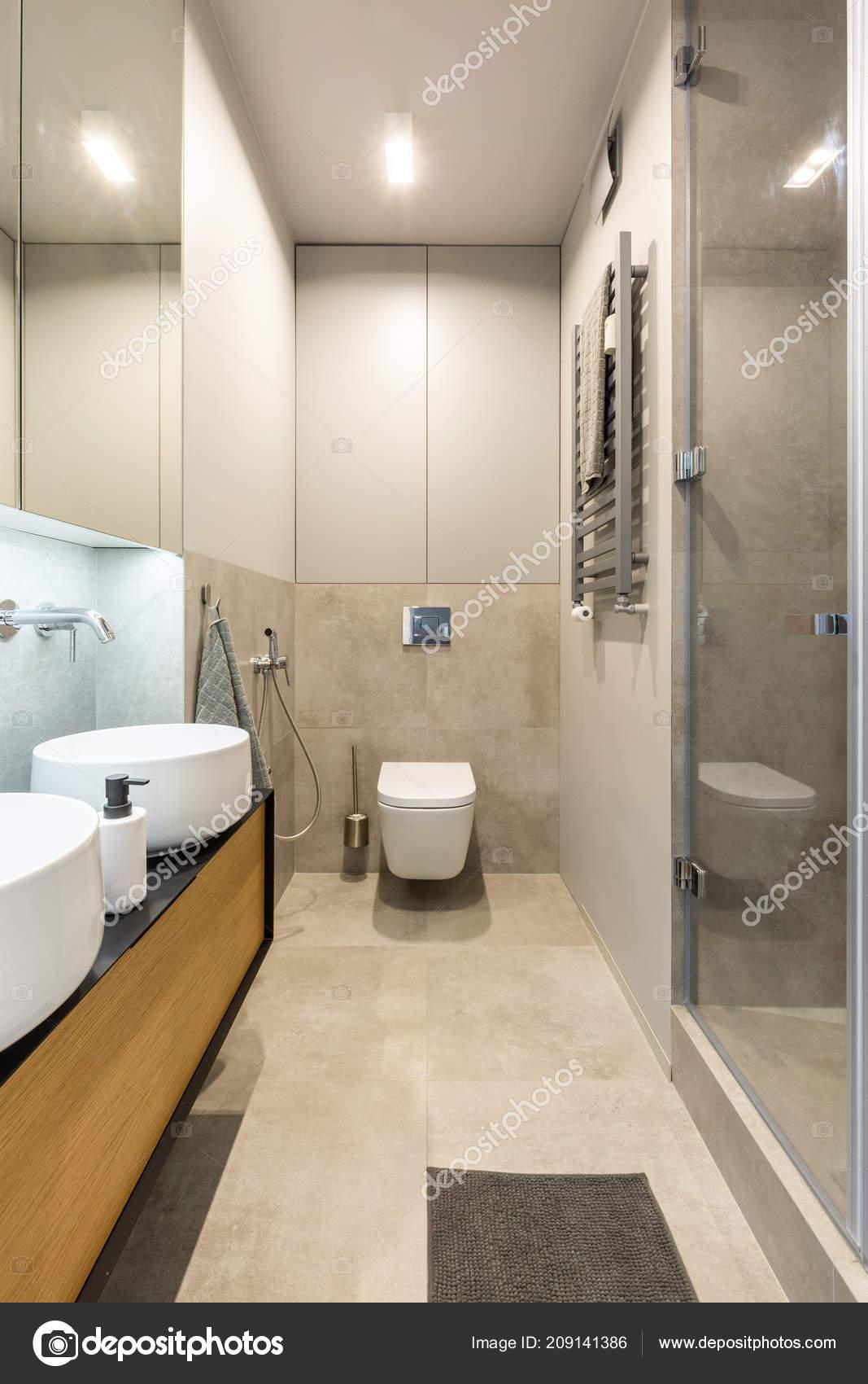 Salle De Bains Beige | Noire Blanc Bain Couleur Photo Bois Gris ...