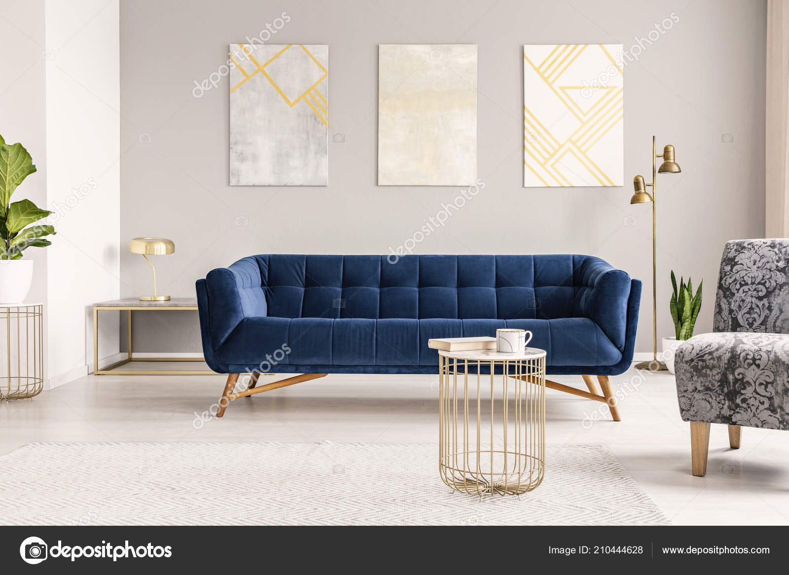 Moderne Sofa Real Photo Modern Living Room Interior Sofa Paintings Coffee