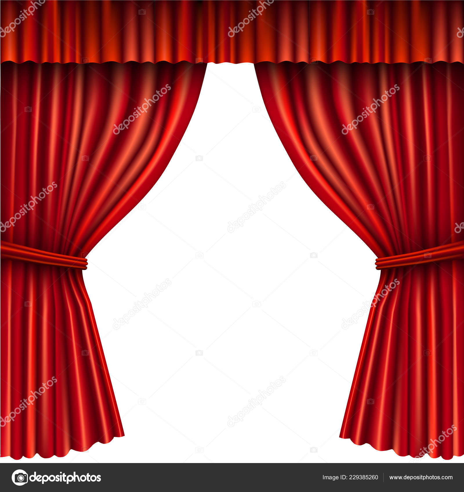 Red Stage Curtain Stock Vector Roxiller 229385260 - Vorhang Auf Clipart