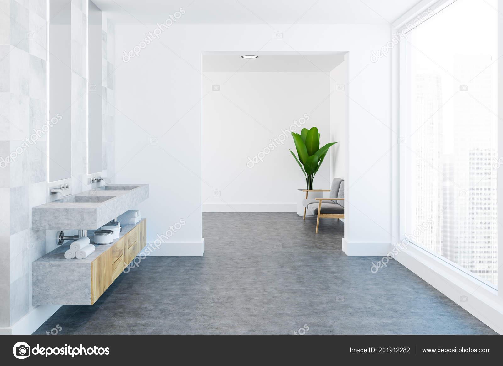Witte vloer in de badkamer gietvloer badkamer elegant witte