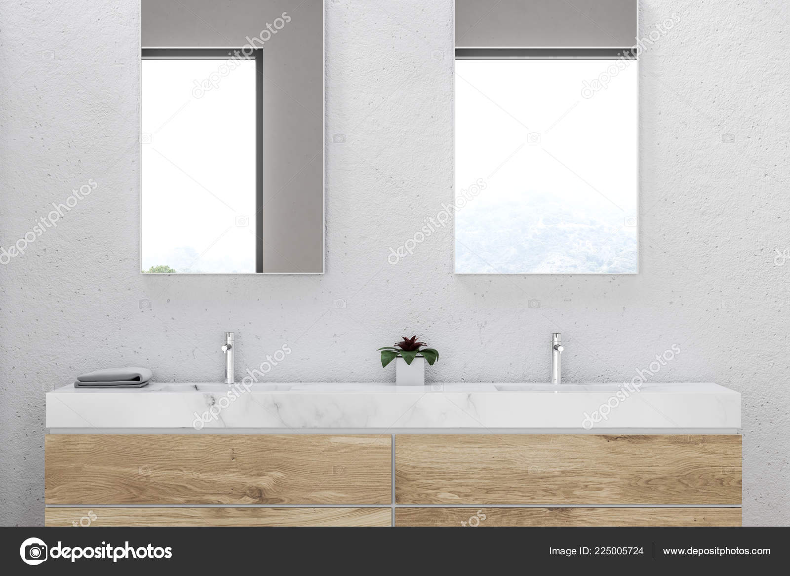 Holzarbeitsplatte Hygiene Close Bathroom Double Sink Made Marble Standing Wooden Countertop