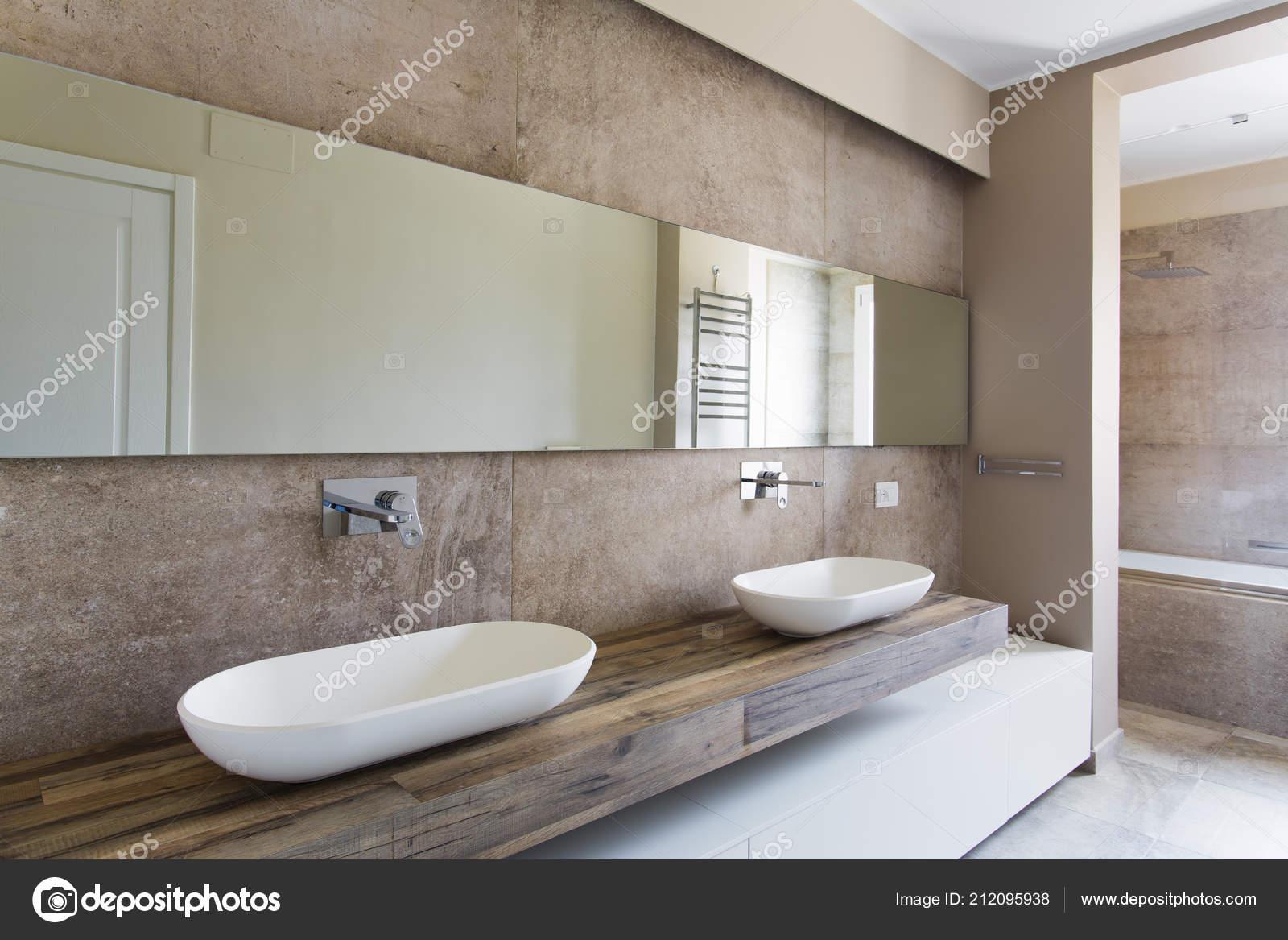 Bagni Moderni Con Due Lavabi | Mobile Bagno Moderno Memo 1 Di Arbi