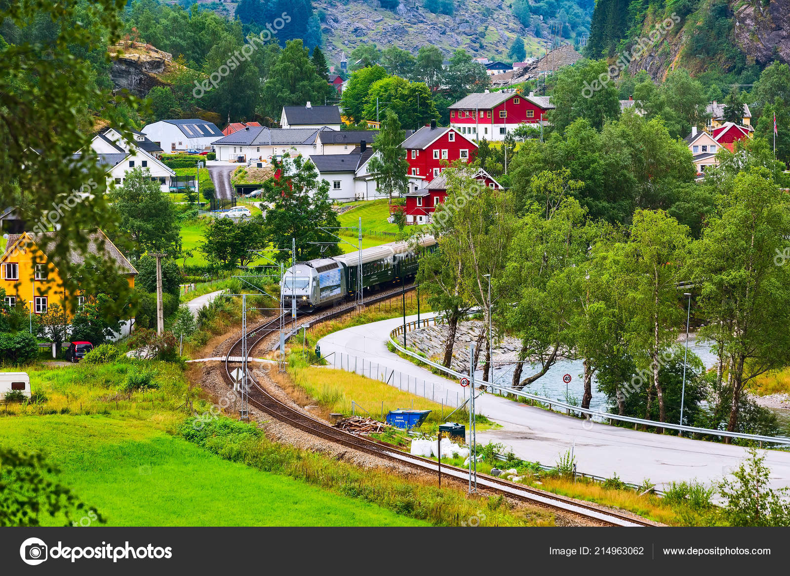 Norway Train Flam Norway Train To Myrdal Stock Photo Kisa Markiza 214963062