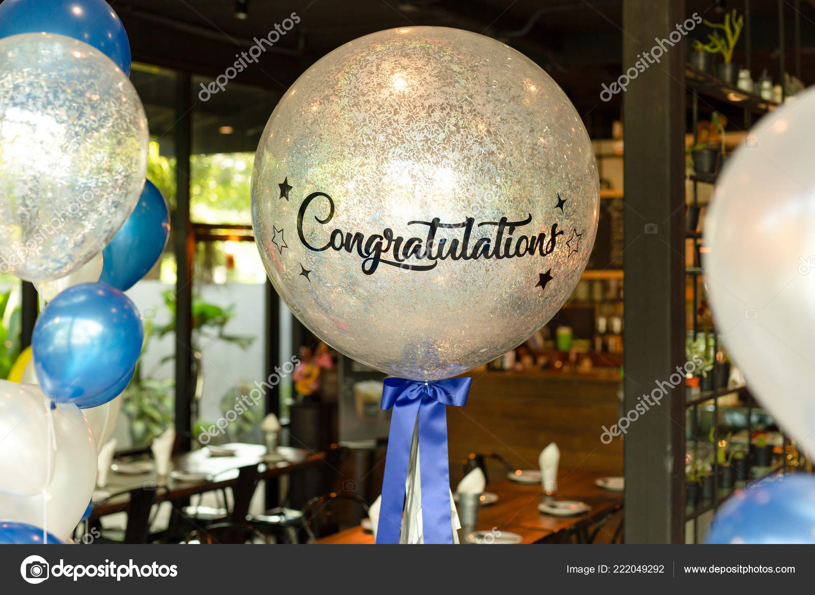 Decoration De Ballon Balloons Word Congratulation Ballon Decoration Rsetaurant Stock