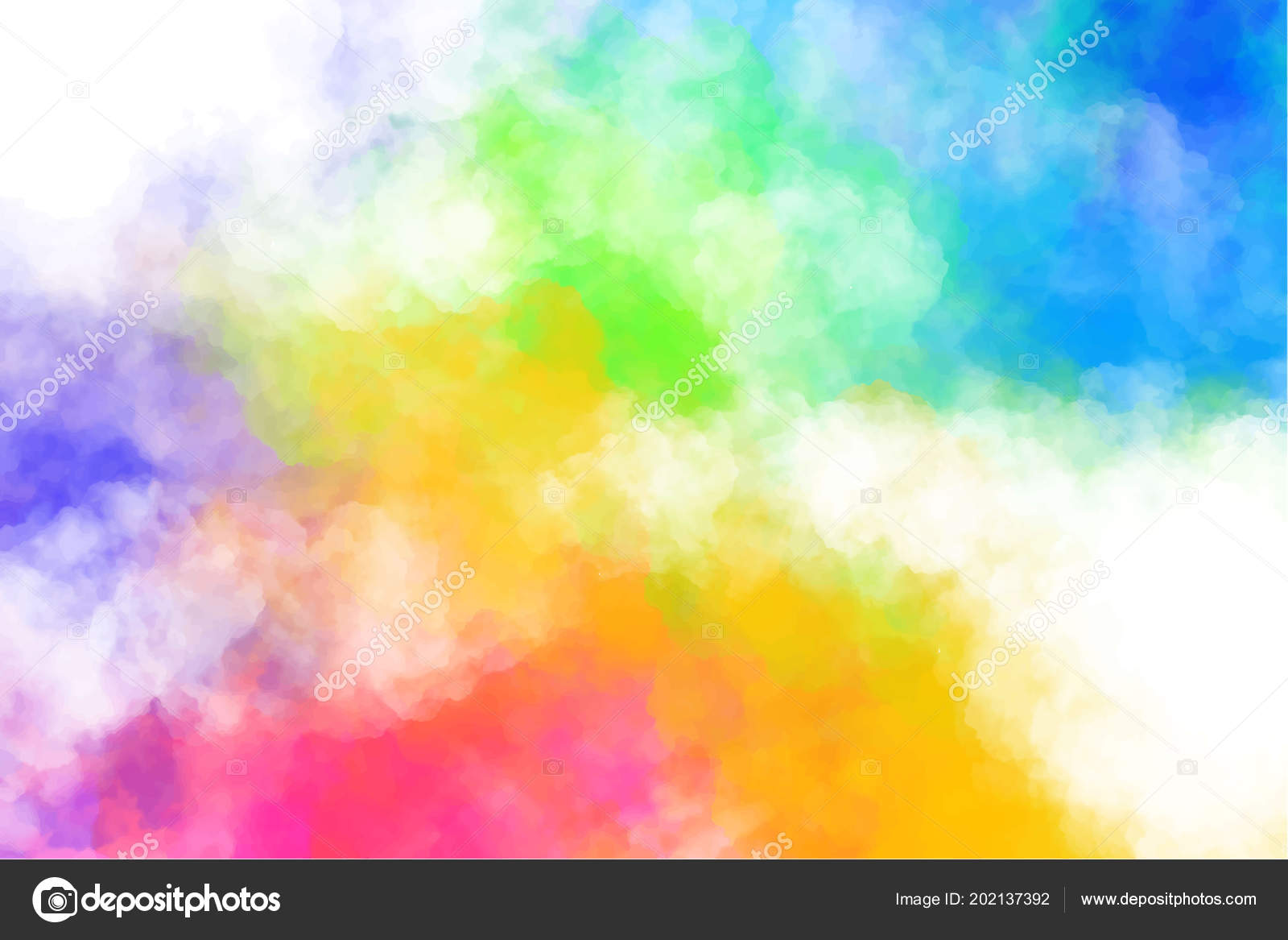 Happy Holi Full Hd Wallpaper Vector Abstract Colorful Background With Colorful Clouds