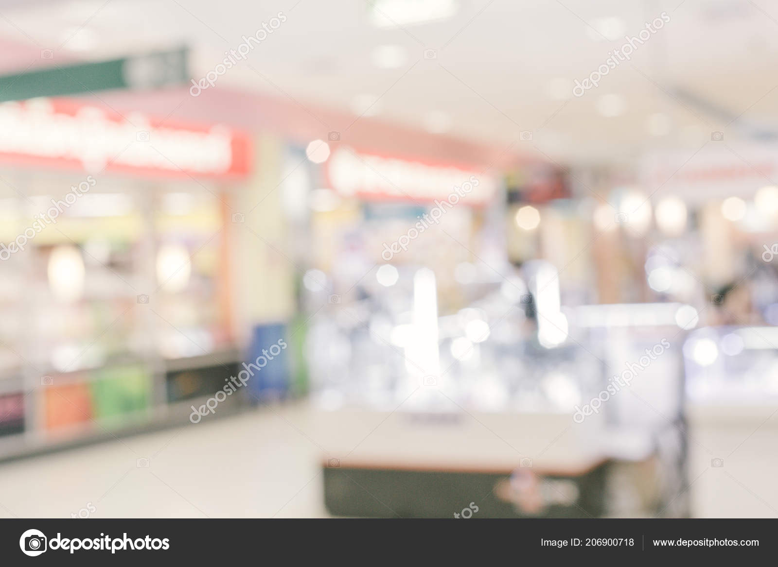 Store En Stock Abstract Blur Department Store With Shopping Mall Interior For
