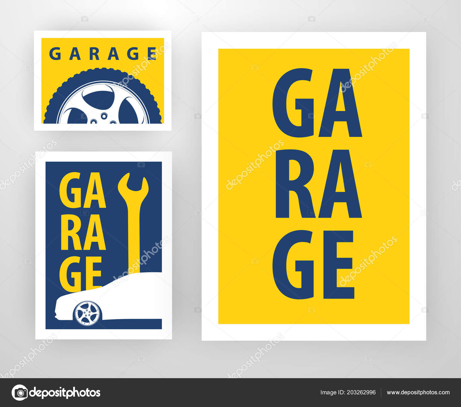 Garage Design Template Vector Template Design Decoration Garage Layout Banner Card