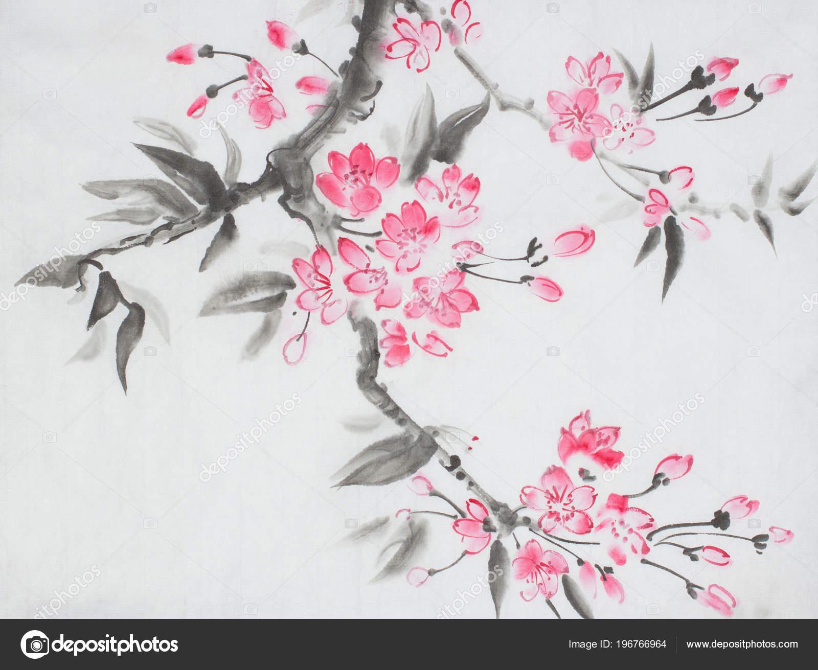 Dessin Fleur De Cerisier Japonais Couleur Amazing Tatouage Japonais