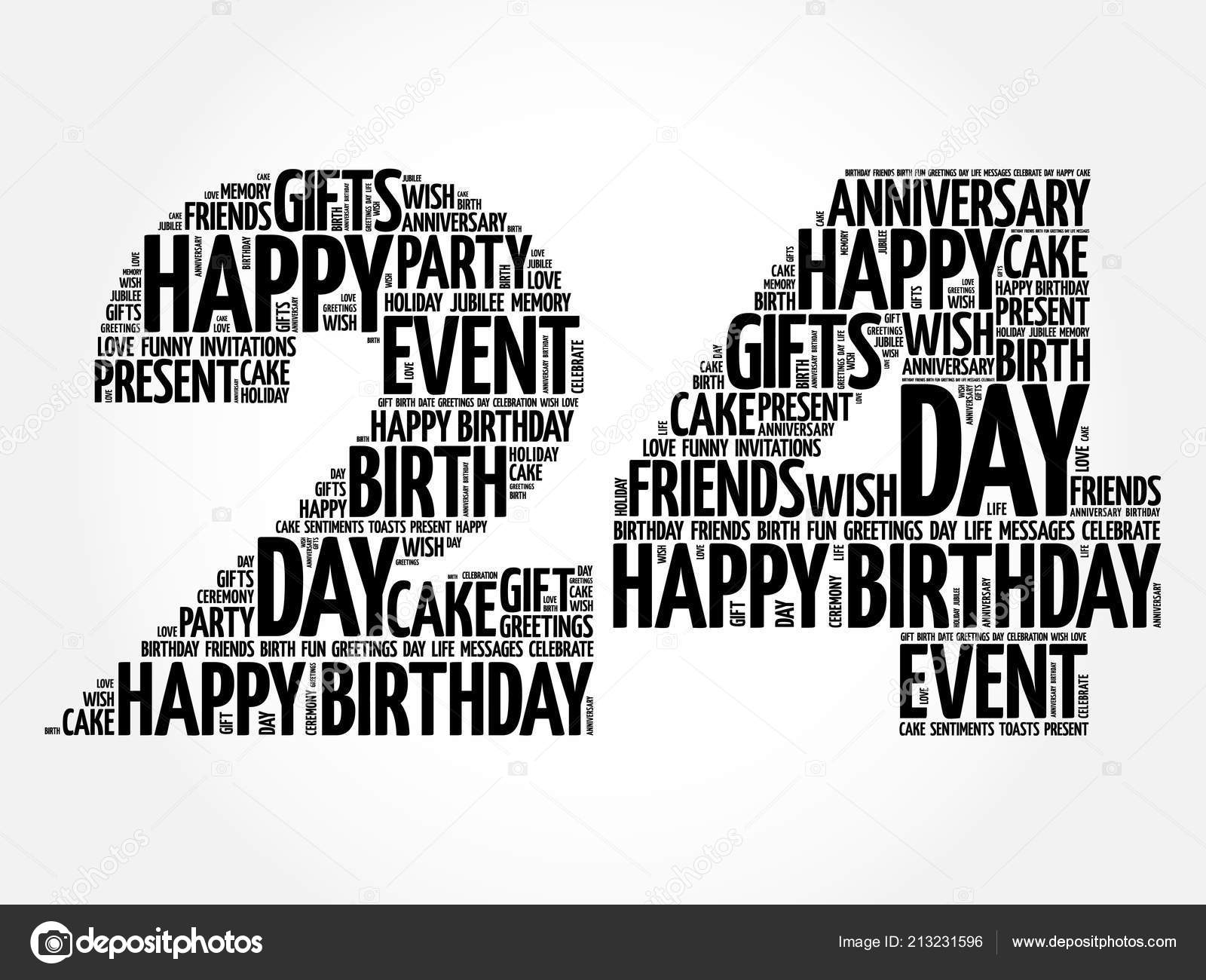 Happy 24th Birthday Word Cloud Collage Concept Vector Image By Dizanna Vector Stock 213231596