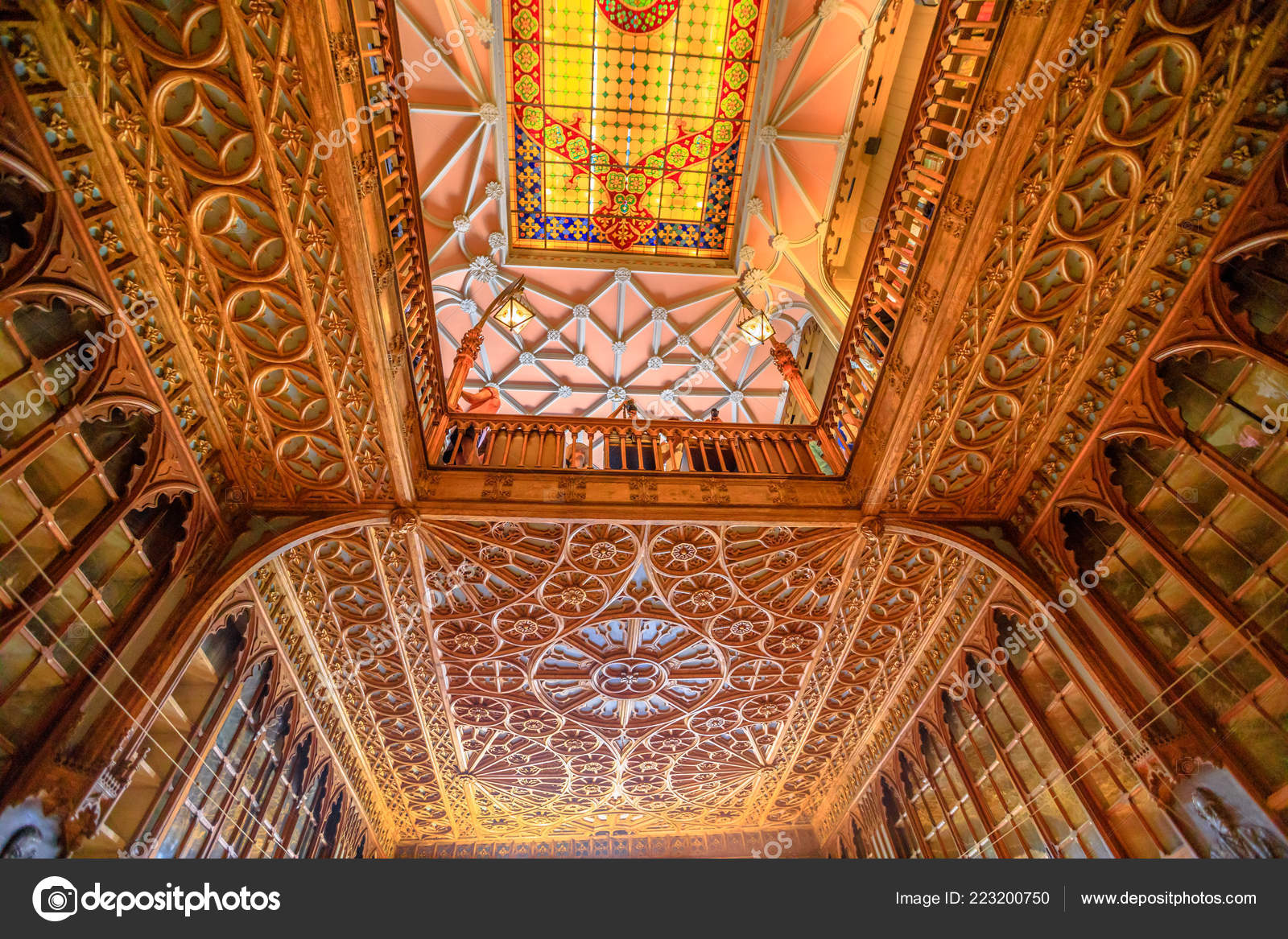 Librería Lello E Irmao Library Lello Ceiling Stock Editorial Photo Bennymarty