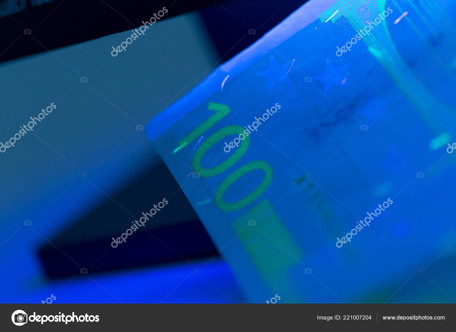Ultraviolet Lamp Close Checking Money Ultraviolet Lamp Stock Photo Fotofabrika