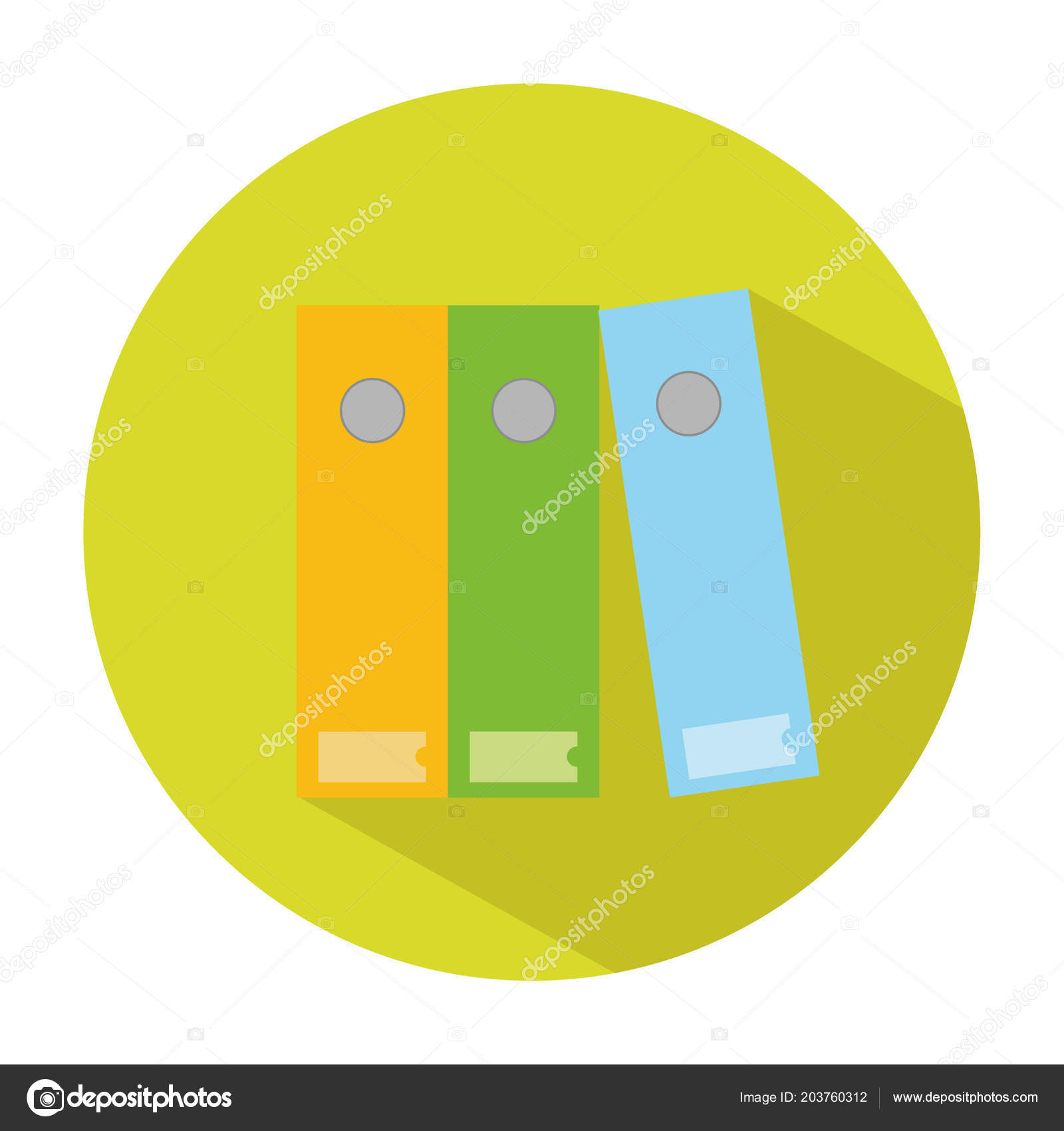 Filing Cabinet Icon Flat Icon Filing Cabinet Flat Style Vector Illustration School Office