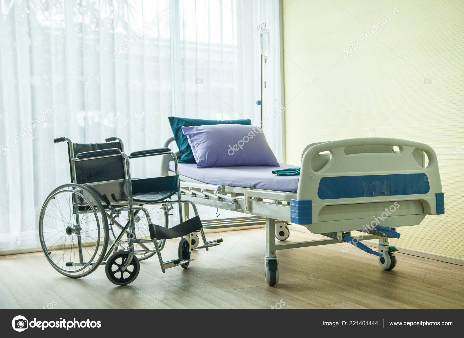 Bed Wheelchair Wheelchair Bed Hospital Waiting Used Sick People Bed Window Have