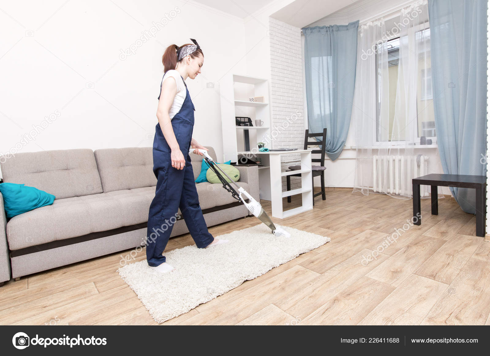 Sofa Service Cleaning Service With Professional Equipment During Work