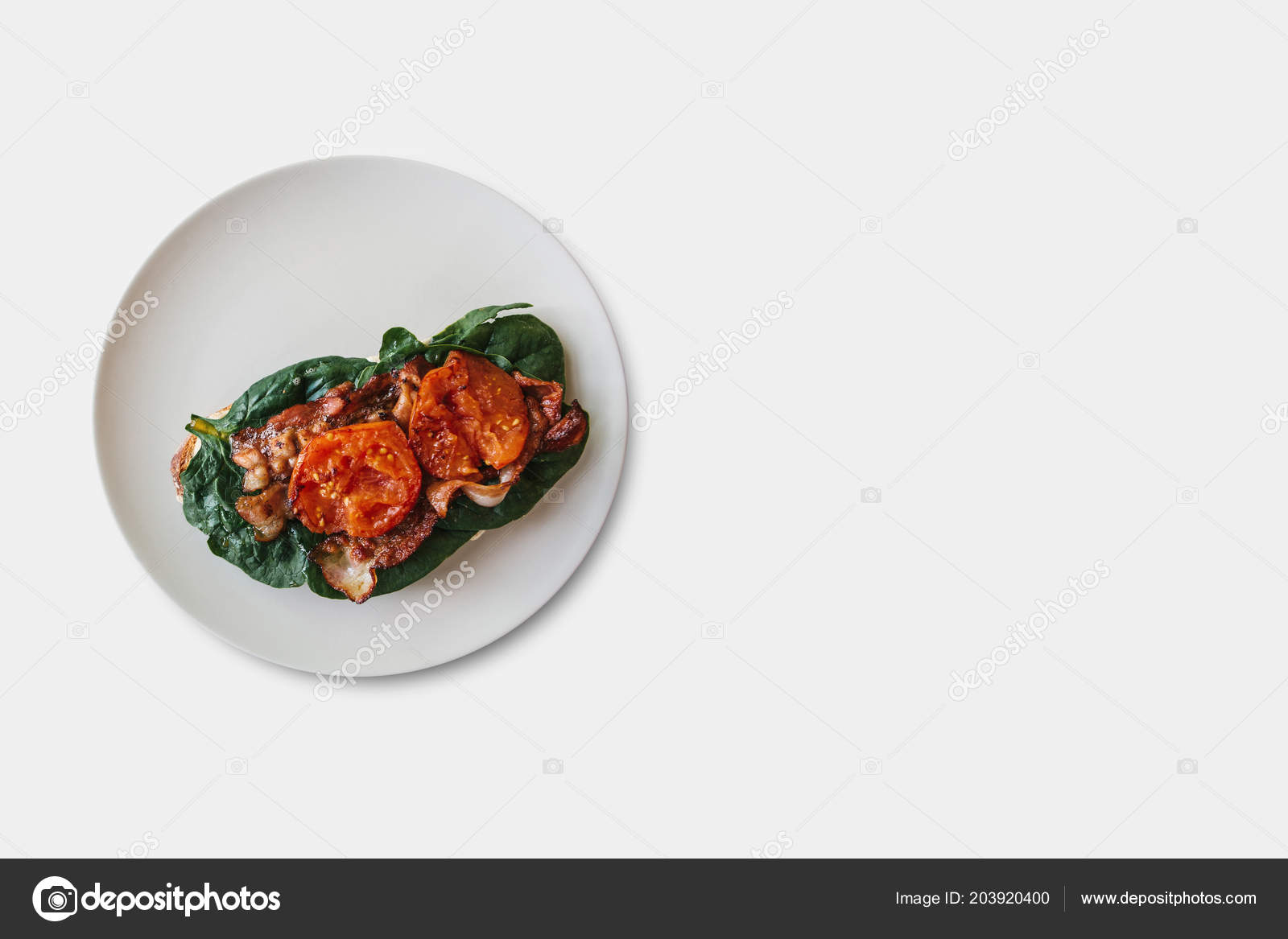 Food Nearby Delicious And Nutritious Toast Or Sandwich With Bacon Spinach And
