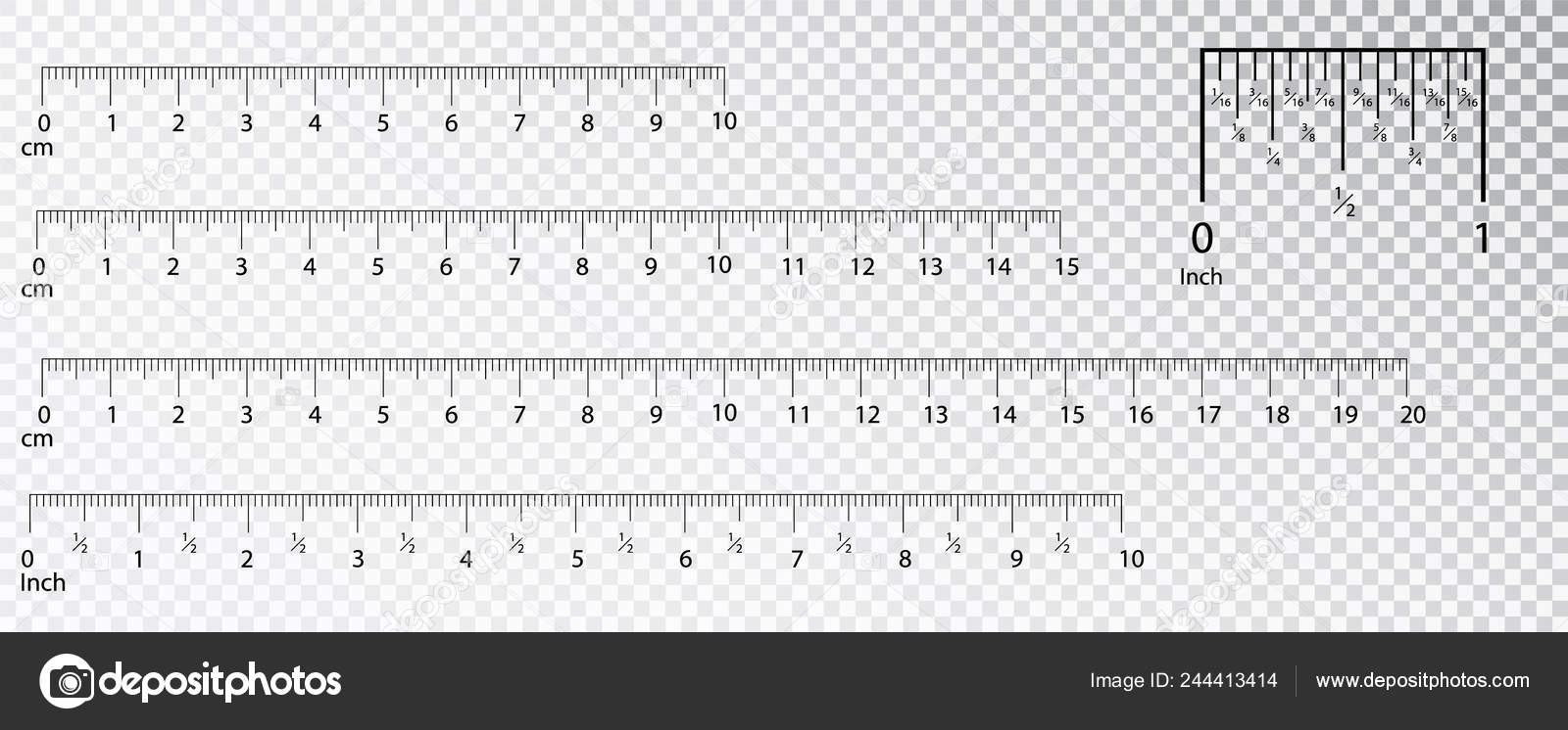 Ich Cm Rulers Inch And Metric Rulers Measuring Tool Centimeters And