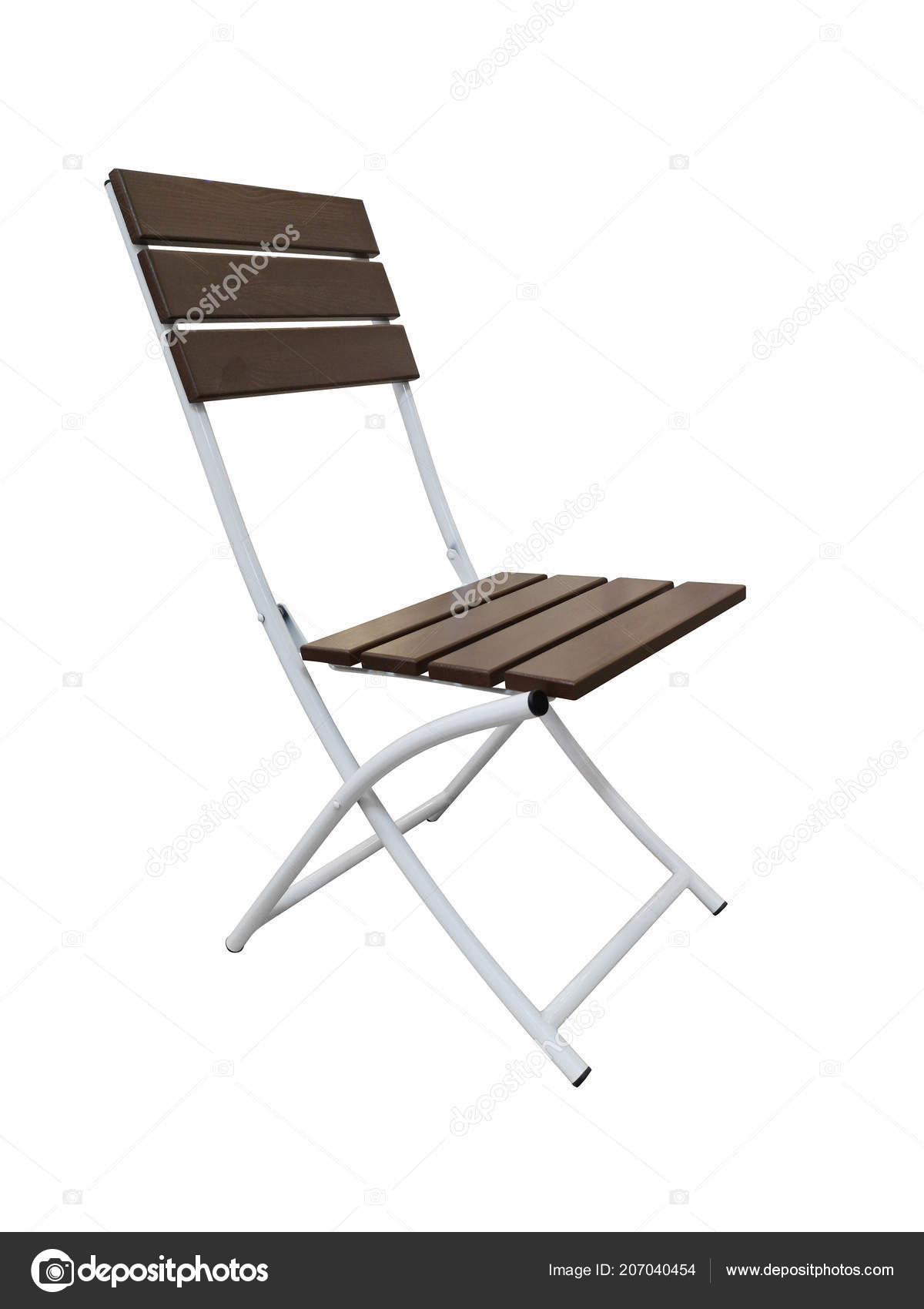 Folding Wooden Chairs Folding Wooden Chair White Background Isolated Brown Folding Chair