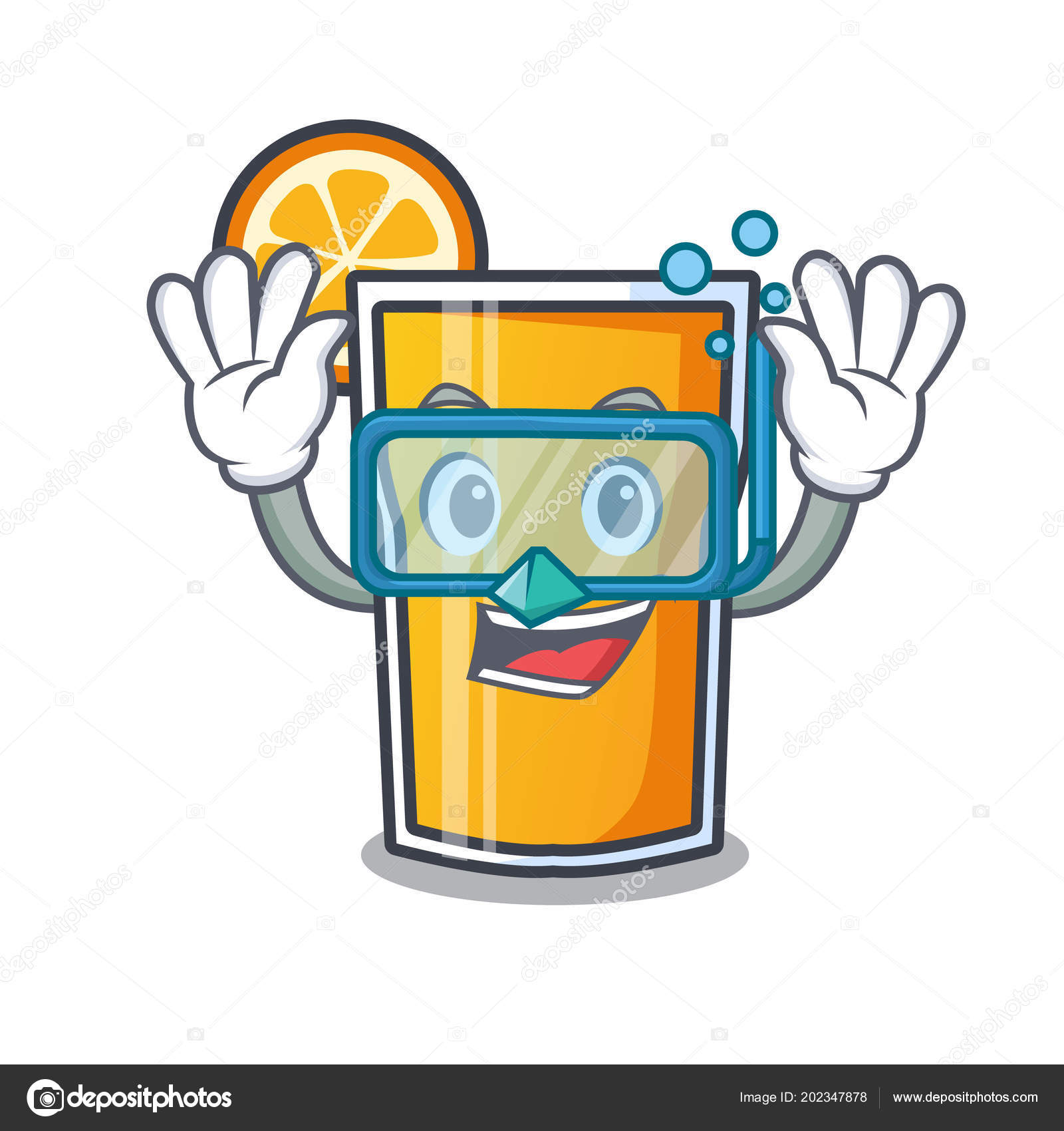 Cartoon Küche Aufräumen Tauchen Orangensaft Charakter Cartoon Stockvektor Kongvector