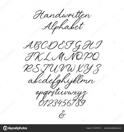 Vector Calligraphy Alphabet. Exclusive Letters. Decorative ...