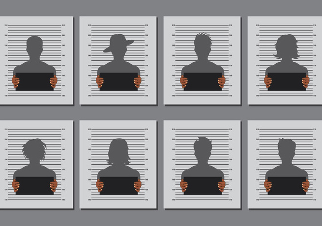 Mugshot Templates Vector Free Vector Download 368475 CannyPic