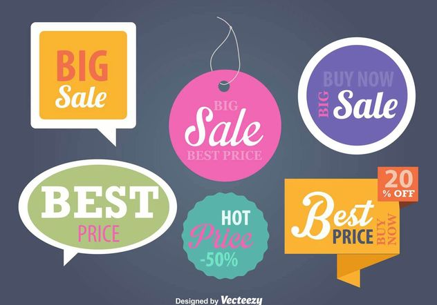 Price And Advertising Signs Templates Free Vector Download 159177