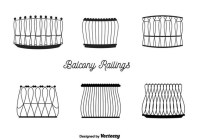 Balcony Railings Vector Free Vector Download 350687 | CannyPic