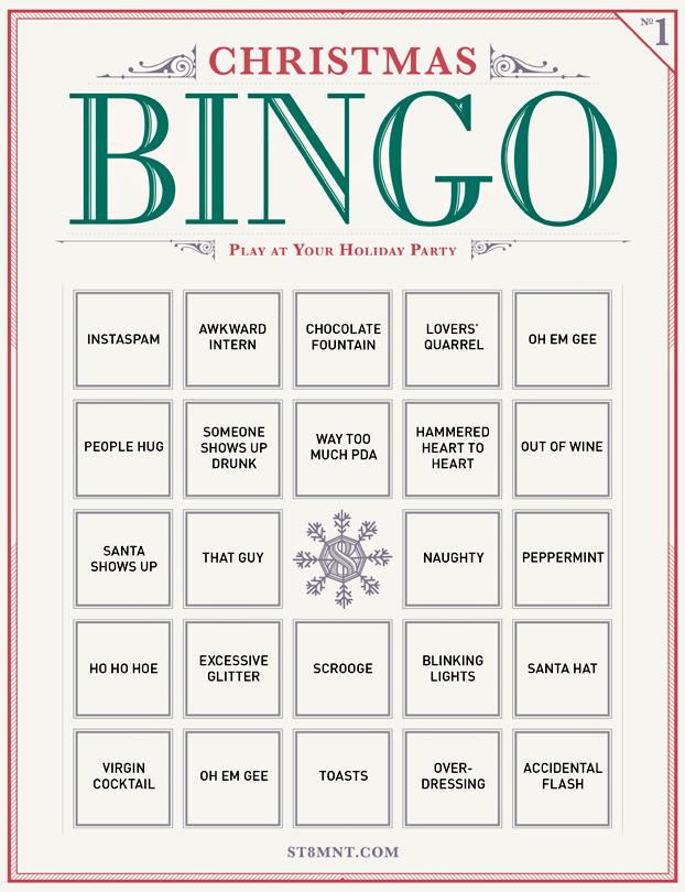 Free Printable Holiday Bingo - ST8MNT BRAND AGENCY