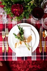 Two Christmas Table Settings - STACIE FLINNER