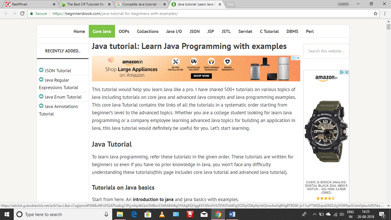 Programming Tutorial Learn Java Tutorials For Beginners Intermediate And Advanced