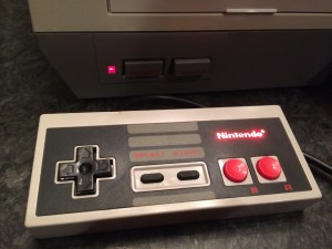 Photo of Nintendo controller with LED modification