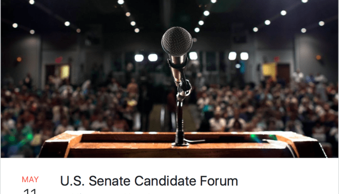 US Senate candidate forum