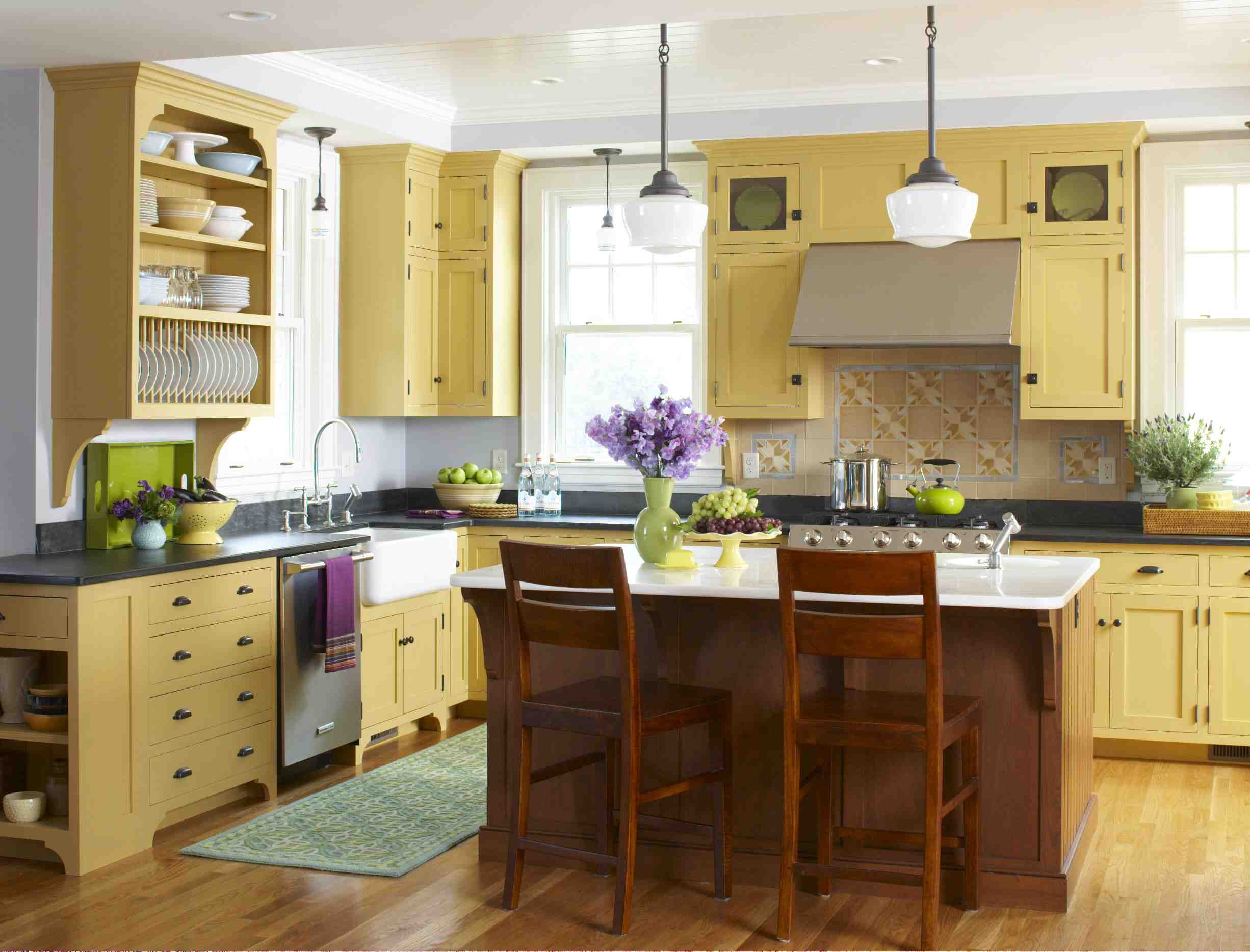 Kitchen Design Yellow Cabinets Style Archivemellow Yellow Kitchen Stacystyle 39s Blog