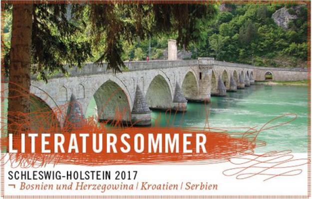 Plakat zum literatursommer 2017 in SH