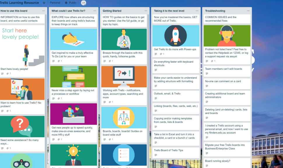 Trello - Flinders University Staff