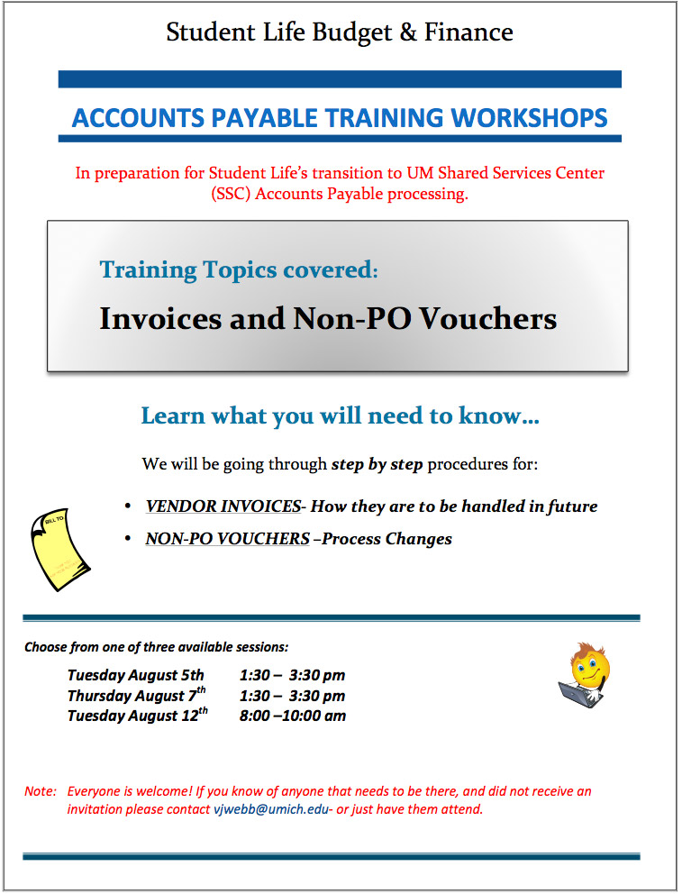 New Shared Services Accounts Payable Process Information Student