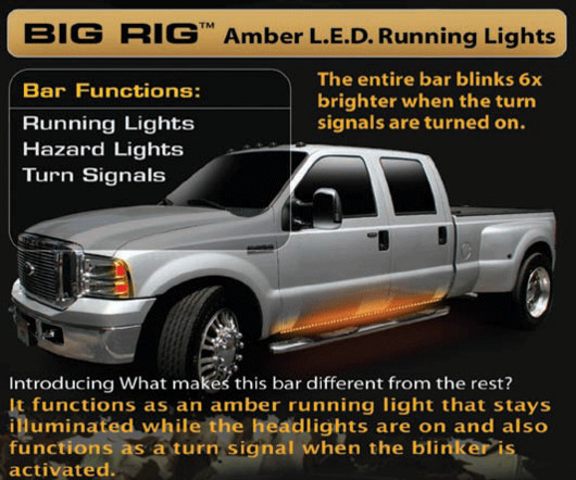 Led Strips Set 1999-2015 F250 & F350 Superduty Recon Led Big Rig Running