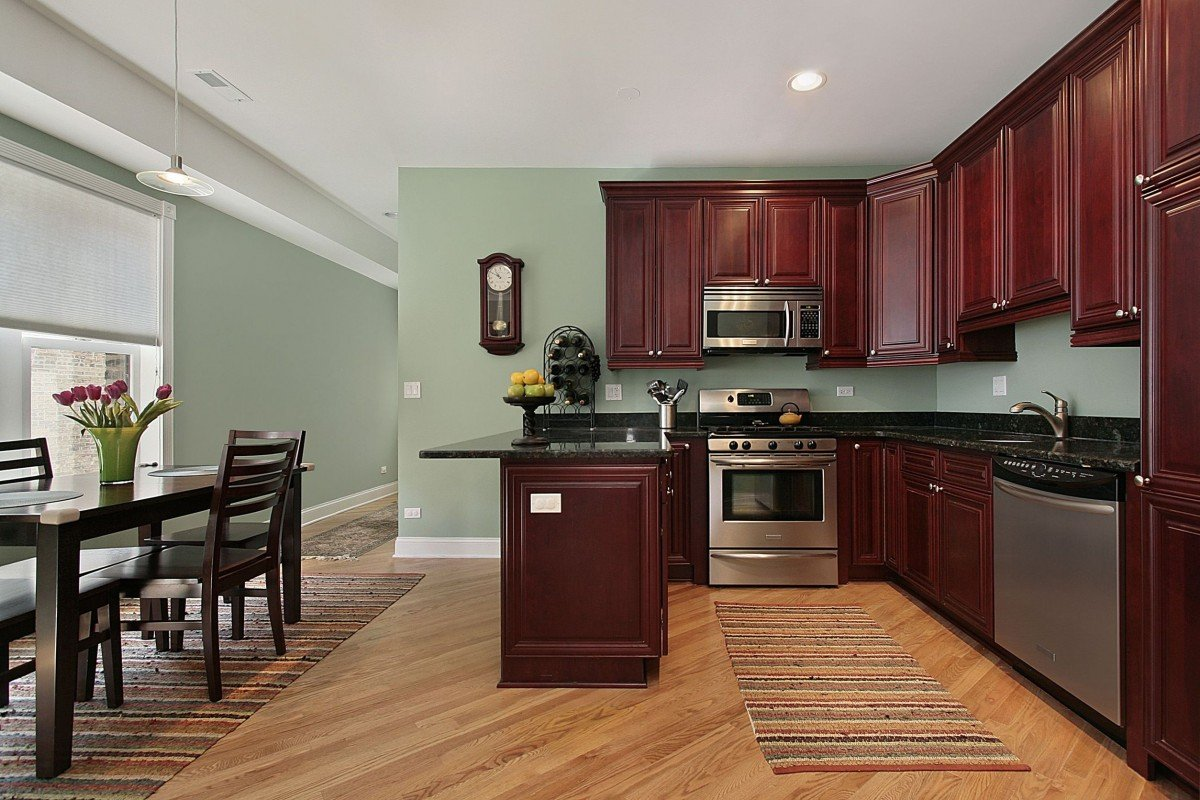 Black Kitchen Cabinets What Color On Wall Kitchen Paint Colors With Cherry Cabinets Home Furniture