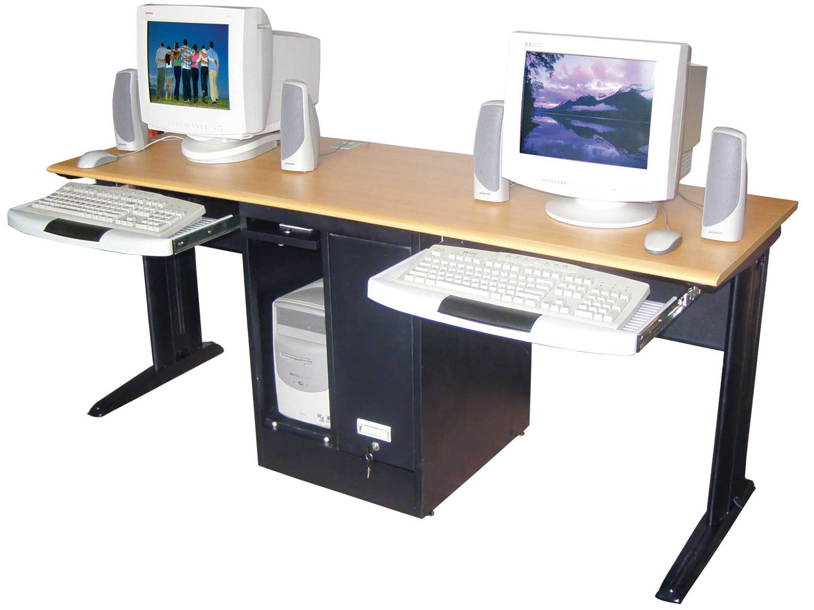 Two Person Work Station 2 Person Computer Desk Home Furniture Design