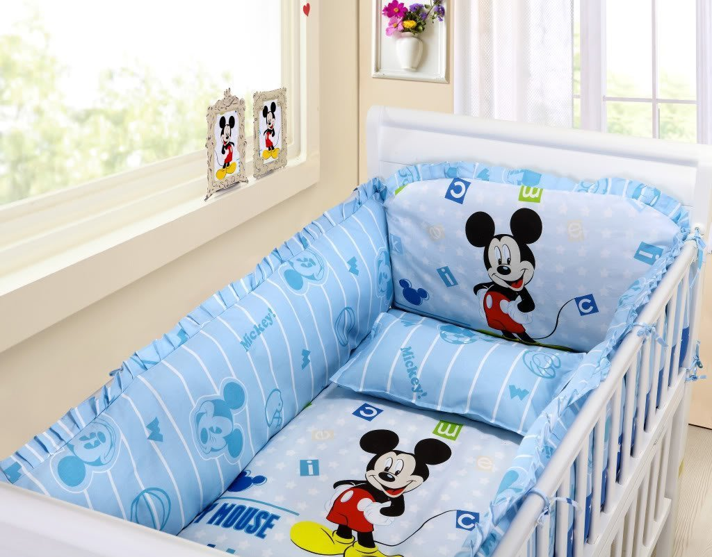 Bad Set For Baby Mickey Mouse Crib Bedding Set Home Furniture Design
