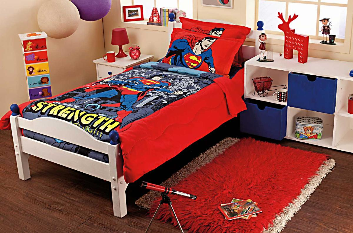 Superman Room Ideas Superman Bedding Set Home Furniture Design