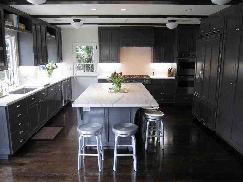 Dark Wood Cabinets In Kitchen Dark Wood Floors With Dark Cabinets Home Furniture Design