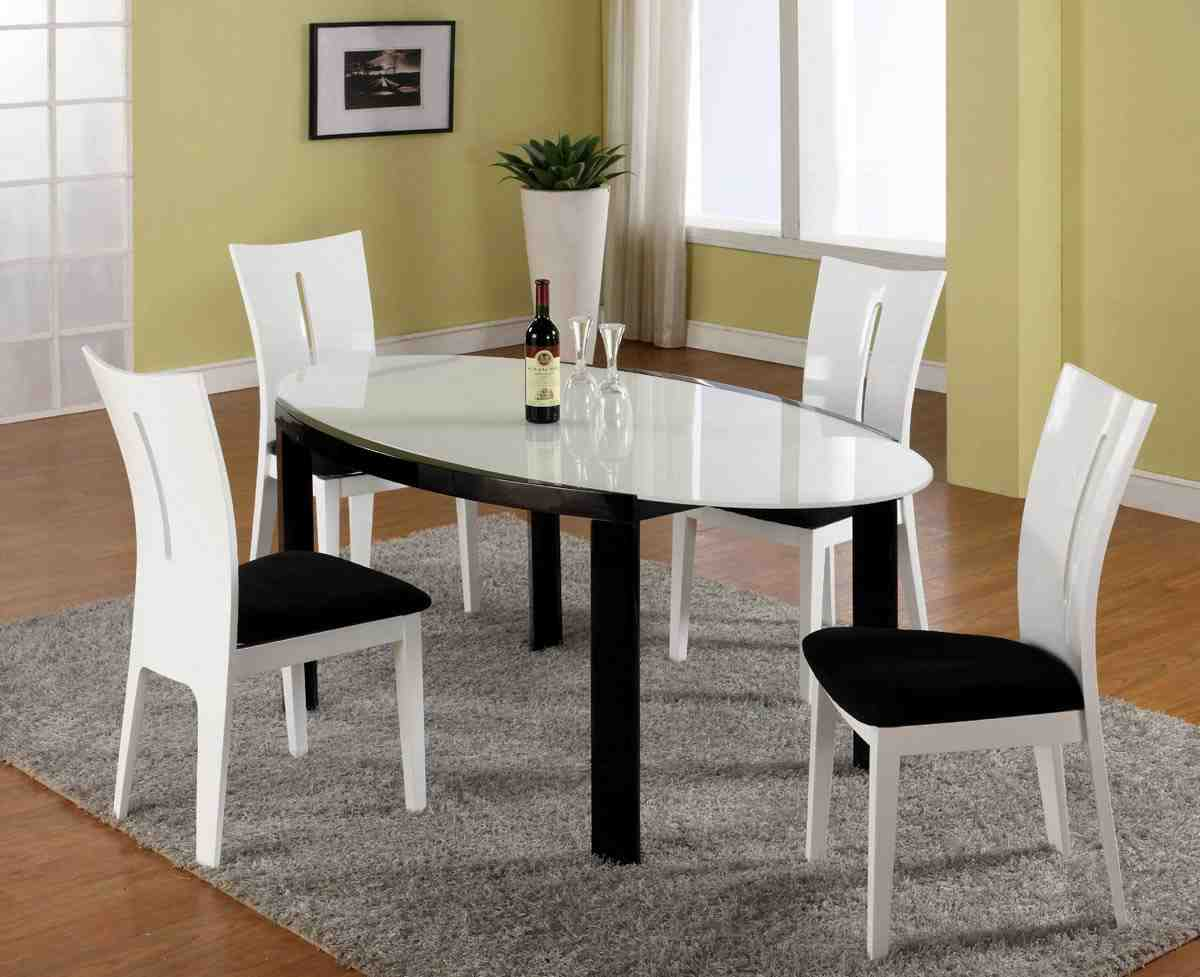 Black Dining Table And Chairs Black And White Dining Table And Chairs Home Furniture