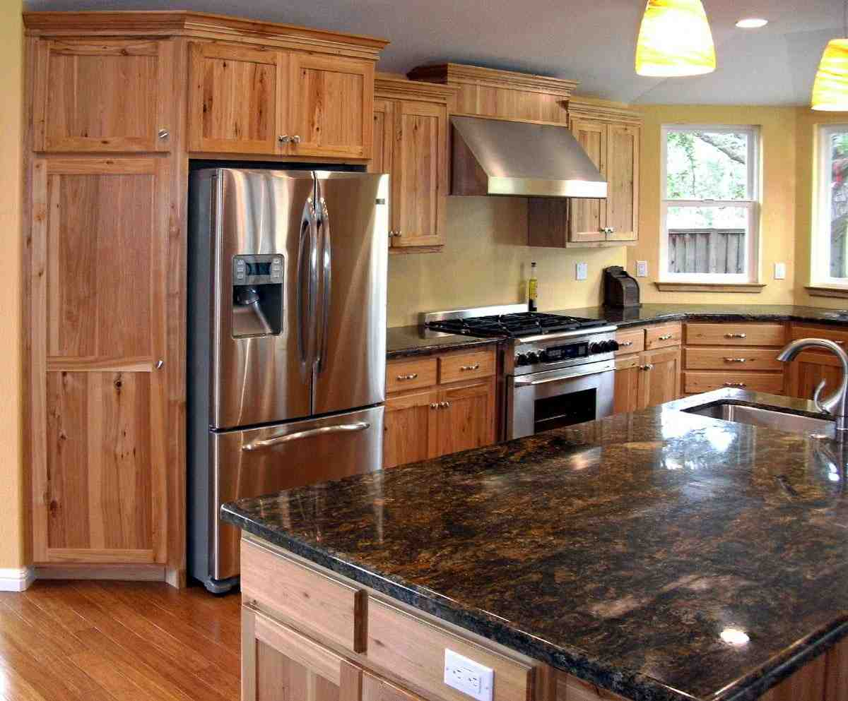 Western Countertops Rustic Maple Cabinets Home Furniture Design