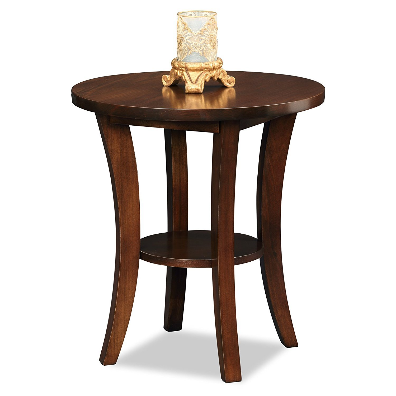 Wooden End Table Wood Round End Table Home Furniture Design