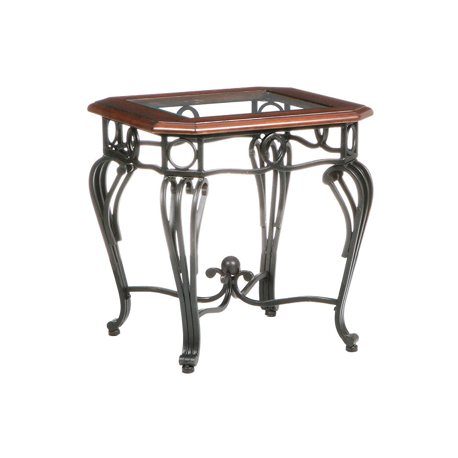 Iron Side Tables For Living Room Wrought Iron End Tables With Glass Tops Home Furniture