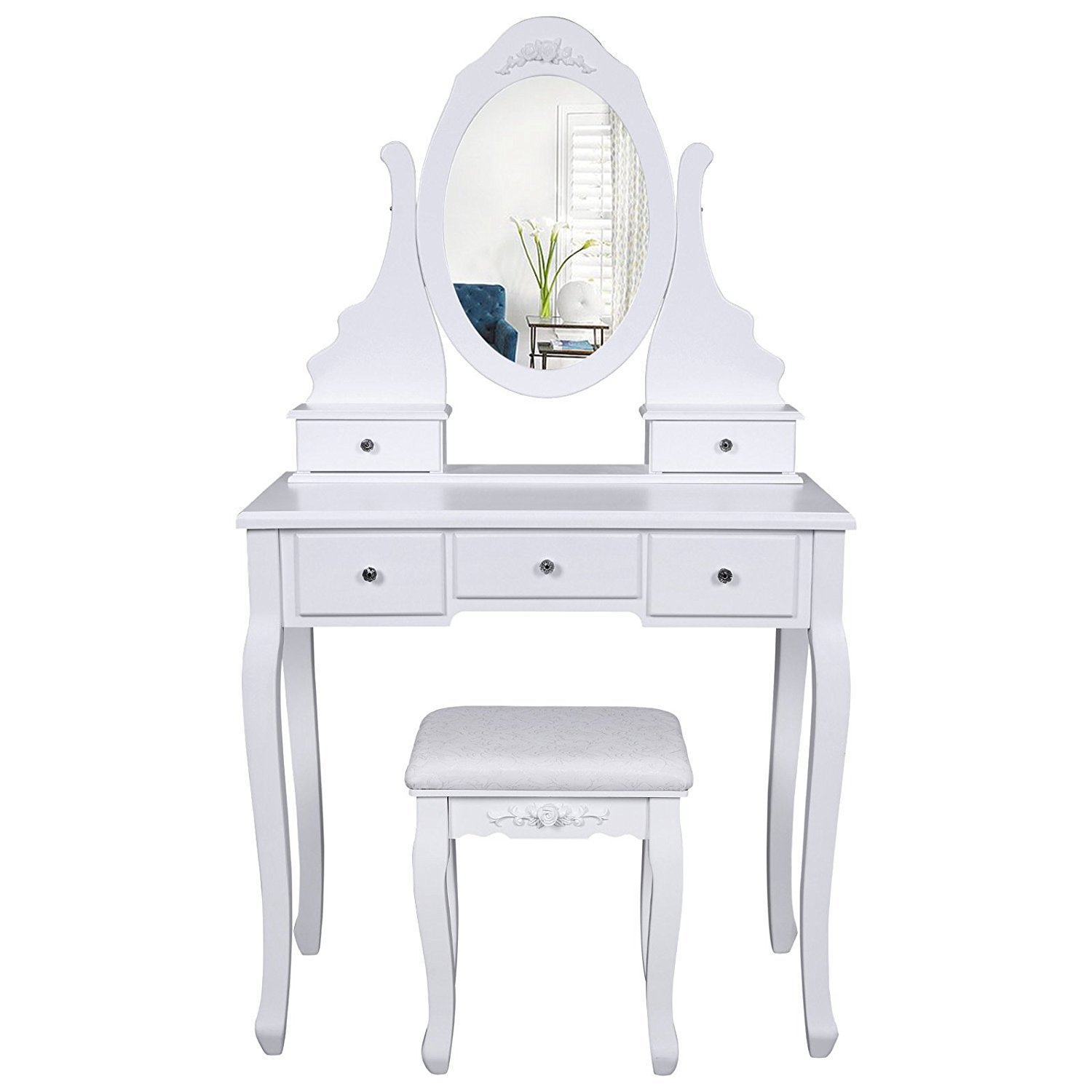 Coiffeuse Design Blanche Diy Makeup Vanity Table - Home Furniture Design