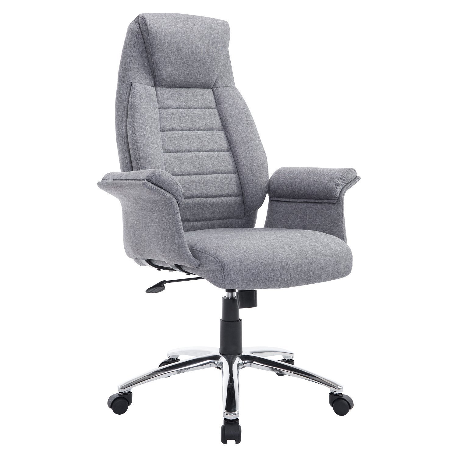 Cloth Covered Office Chairs Homcom High Back Fabric Executive Office Chair Home